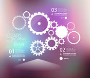 Infographic design template with gears Stock Photo