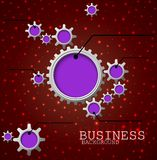 Infographic Design Template With Gears And Cogs red light. Illustration of Infographic Design Template With Gears And Cogs red light Stock Photos