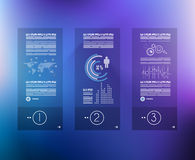 Infographic design template with glass surface. Royalty Free Stock Photography