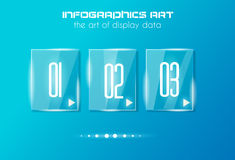 Infographic design template with glass surfaces. Stock Image