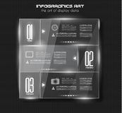 Infographic design template with glass surfaces. Royalty Free Stock Image