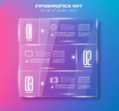 Infographic design template with glass surfaces. Stock Photography
