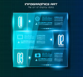 Infographic design template with glass surfaces. Royalty Free Stock Photos