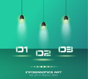Infographic design template with glass surfaces Stock Image