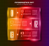 Infographic design template with glass surfaces.and spotlights Stock Photo