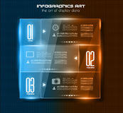 Infographic design template with glass surfaces Royalty Free Stock Image