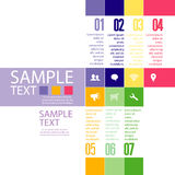 Infographic design template with graphic elements set illustration. Vector file in layers for easy editing. Royalty Free Stock Photography
