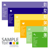 Infographic design template with graphic elements set illustration. Vector file in layers for easy editing. stock images