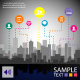 Infographic design template with graphic elements set illustration. Vector file in layers for easy editing. Stock Photo