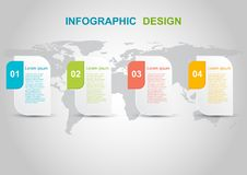 Infographic design template on gray background. Can be used for business step options stock illustration