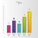 Infographic design template. Hexagonal columns data. Vector.  Royalty Free Stock Images