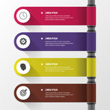 Infographic design template with icons. Banner. Vector Royalty Free Stock Image