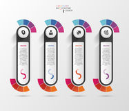 Infographic design template with icons. Banner. Vector Royalty Free Stock Photography