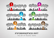 Infographic design template. Ideal to display information Royalty Free Stock Photography