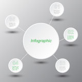 Infographic design template. Stock Photography