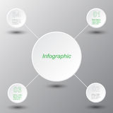 Infographic design template. Royalty Free Stock Photo