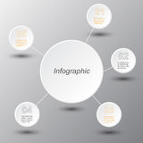 Infographic design template. Royalty Free Stock Images