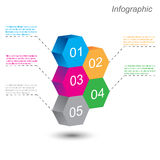 Infographic design template. Royalty Free Stock Image