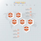 Infographic design  and template marketing icons and  Busi Stock Photography