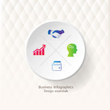 Infographic design template and marketing icons. Infographic design template and marketing icons, Business concept with 4 options Stock Illustration