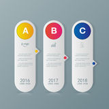 Infographic design template and marketing icons. Stock Photos