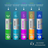 Infographic design template and marketing icons business concept Stock Image