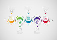 Infographic design template and marketing icons. Stock Image