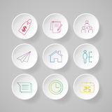 Infographic design template and marketing icons. Stock Photo