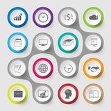 Infographic design template and marketing icons. Illustration Stock Illustration