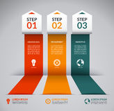 Infographic design template with marketing icons Royalty Free Stock Image