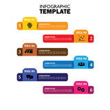 Infographic design template and marketing vector icons Royalty Free Stock Photography