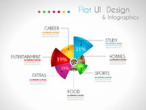 Infographic Design Template with modern flat style. Stock Image