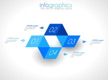 Infographic Design Template with modern flat style. Royalty Free Stock Images