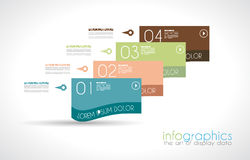Infographic Design Template with modern flat style. Royalty Free Stock Photo