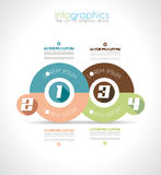 Infographic Design Template with modern flat style. Royalty Free Stock Image
