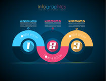 Infographic Design Template with modern flat style Stock Photography