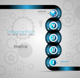 Infographic Design Template with modern flat style. Stock Photography