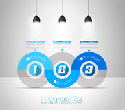 Infographic Design Template with modern flat style. Royalty Free Stock Photography