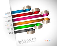 Infographic Design Template with modern flat style. Stock Images
