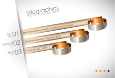 Infographic Design Template with modern flat style Stock Images