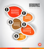 Infographic Design Template with modern flat style Royalty Free Stock Image