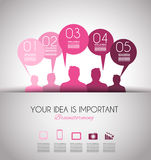 Infographic Design Template with modern flat style. Royalty Free Stock Photos