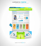 Infographic Design Template with modern flat style Royalty Free Stock Photo