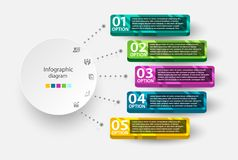 Infographic design template for multiple purpose of use.. Infographic Diagram for multiple purpose of use Stock Photography
