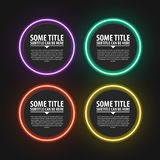 Infographic design template. Neon circles. Four steps. Vector illustration vector illustration