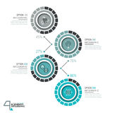 Infographic design template with 4 numbered circular elements Royalty Free Stock Photography