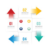 Infographic design template options banner. Royalty Free Stock Photo