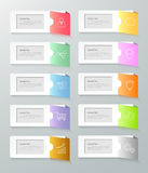 Infographic design template 10 options. Stock Photo