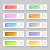 Infographic design template 10 options. Stock Photography