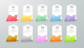 Infographic design template 10 options. Stock Photos